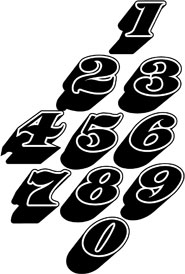 Classic Race Car Numbers Created By Julian Braet Mr J