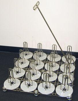 Inkjet media floor rack