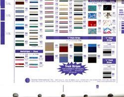 Prostripe Striping Color Chart For Signmaking From Beacon